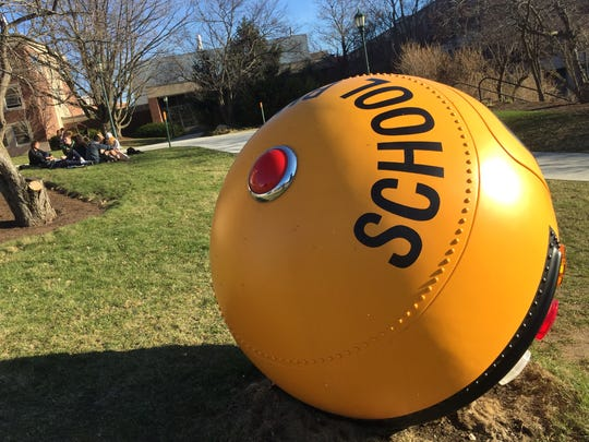 """Bus Ball"" is by University of Vermont graduate Lars Fisk, known for his work for the rock band Phish."