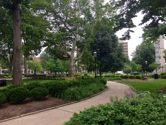 The Morristown Green is a favorite place for visitors