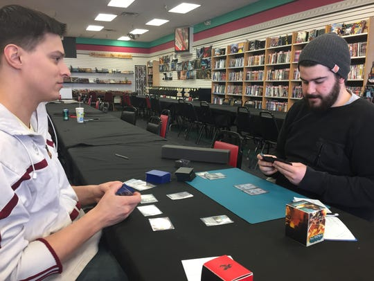 BC Comix and Games employees Joe Winiarski (left) and