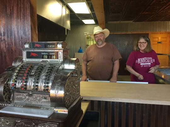 Hotel Hickman Chuckwagon BBQ restaurant owner Scott Thomas and his wife Theresa were hard at work Monday, April 23, 2018 getting the restaurant's Hamburg Township location ready to open last May.