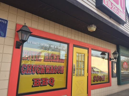 Hotel Hickman Chuckwagon BBQ's Hamburg Township location, picture here April 23, 2018, reopened for the season.