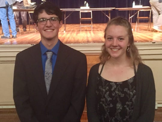 Noah Whitehorn, left, and Elisabeth Davidson said they
