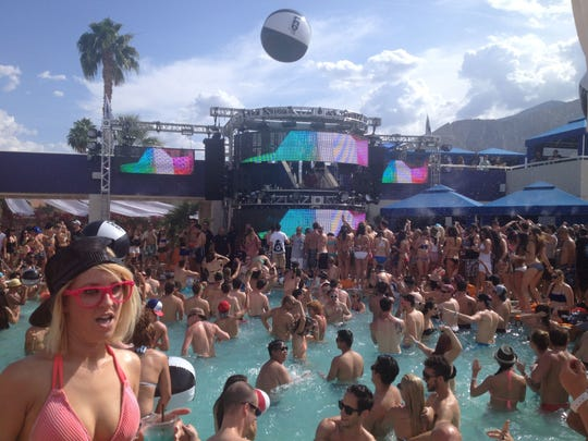 DJ Tiesto spins for hundreds of partygoers in 2014 at the LED Day Club in the Hard Rock Hotel.