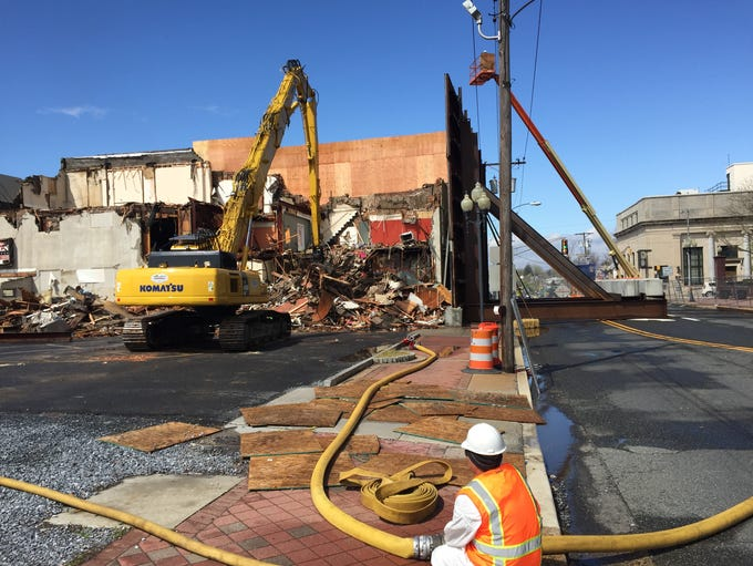 Demolition work started about 10 a.m. Friday at 109