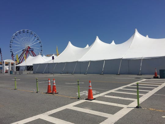 The tents are up at the Inlet Lot in Ocean City for