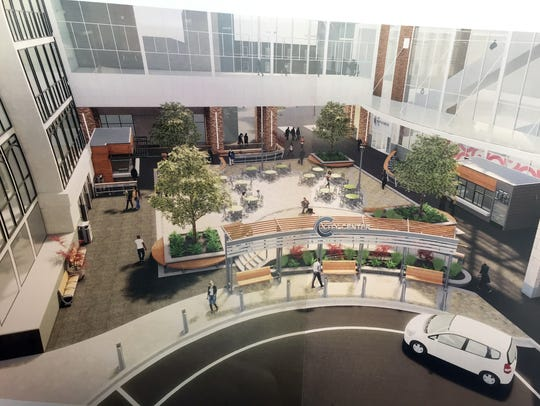 Rendering of proposed improvements at the City Center