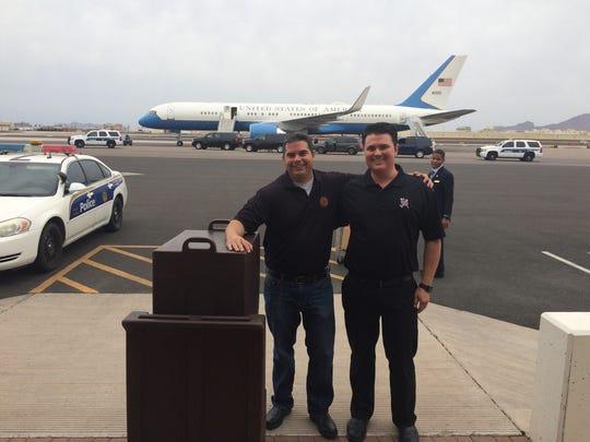 Patrick Dains, left, and Daniel Dains, owners of Phoenix