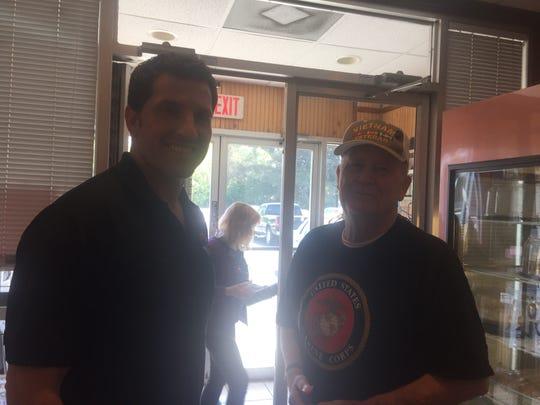 Congressman Scott Taylor (VA-02), left, chats with