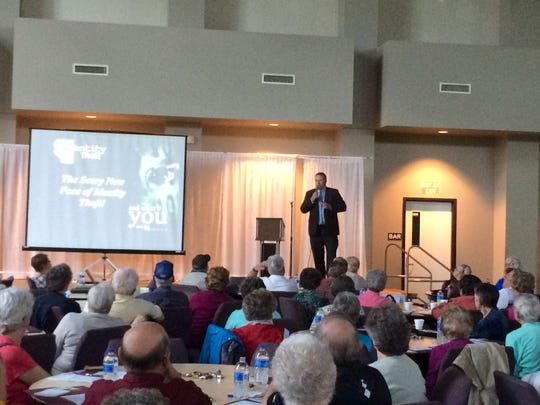 A large crowd gathered at St. Thomas Aquinas Church in Indianola May 1 to learn about how identity theft can impact their lives. The seminar was hosted by Peoples Bank.