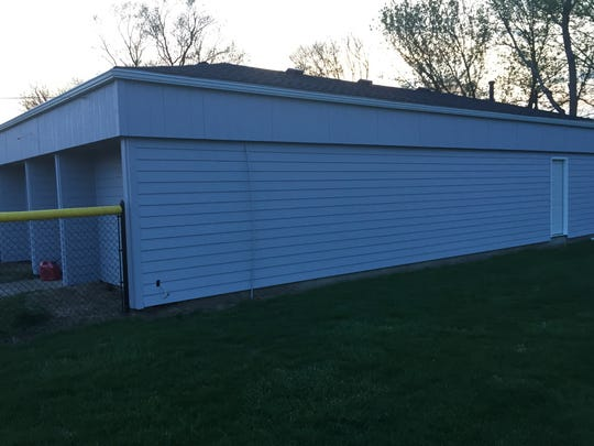 Reese Hall at Mound City Park has new siding, new paint and new tile floors.