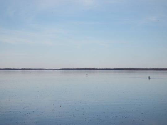 Looking out on the Mississippi River at Bulger's Hollow Recreation Area on April 20, 2018.