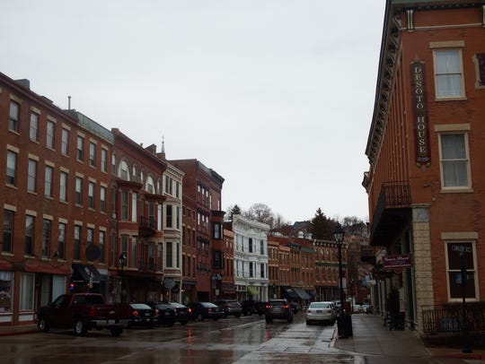 Downtown Galena, Illinois on April 21, 2018.