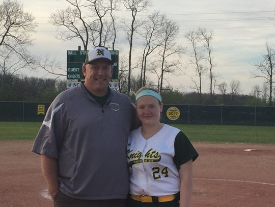 Northeastern High School softball pitching coach Jeff