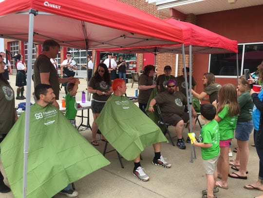 The annual St. Baldrick's head shaving event was held