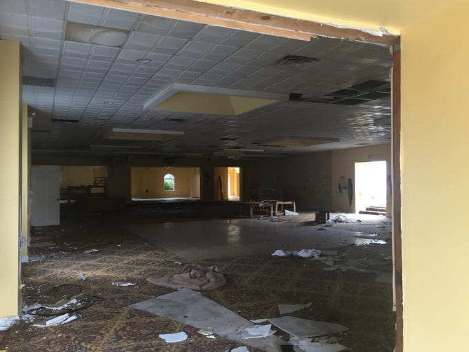The former ballroom of a vacant Route 70 motel could