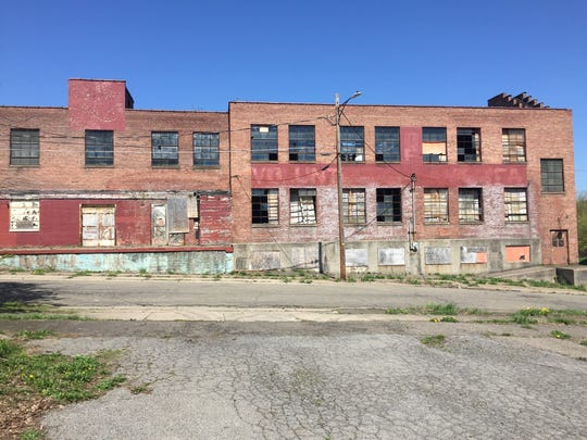 The outside of 19 Avenue B, a former Endicott-Johnson factory. Johnson City is applying for state funding to convert the building into a distribution and packaging center.