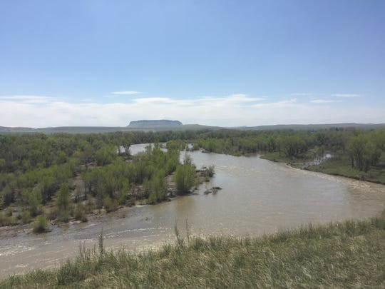 With Square Butte in the background, the Sun River
