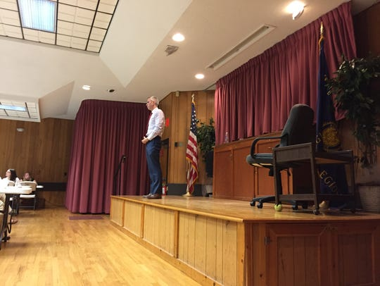 Assemblyman Anthony Brindisi speaks at a town hall