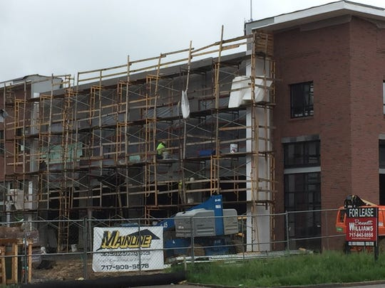 The 9,000-square foot Iron Hill Brewery & Restaurant is under construction at Hershey Towne Square.
