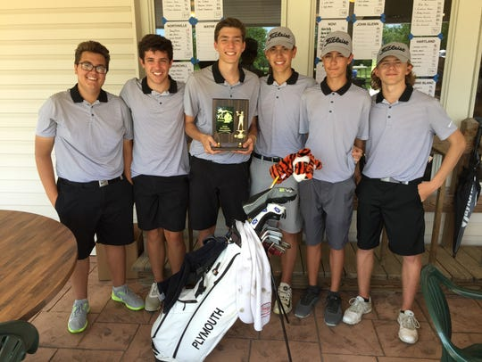 The Plymouth boys golf team won the KLAA's Central