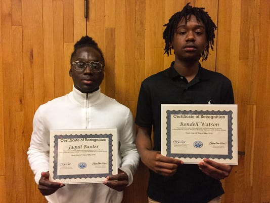 Jaquil Baxter, Rondell Watson honored by Rochester Board of Education