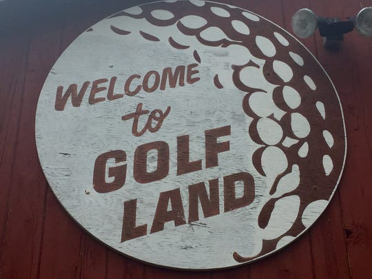 A sign hangs at Golf Land off Haddonfield-Berlin Road in Voorhees.