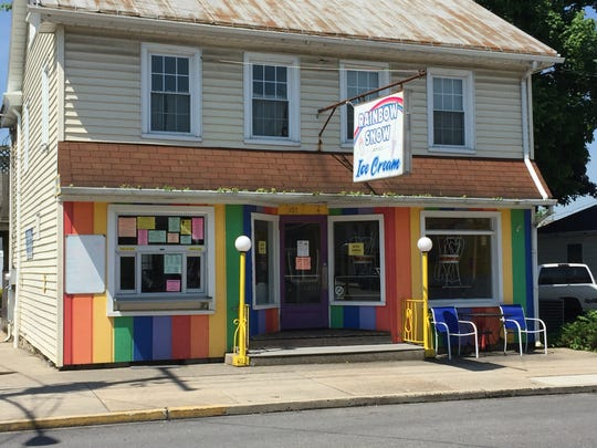 You can't miss the colorful decor at Rainbow Snow & Ice Cream in Palmyra.
