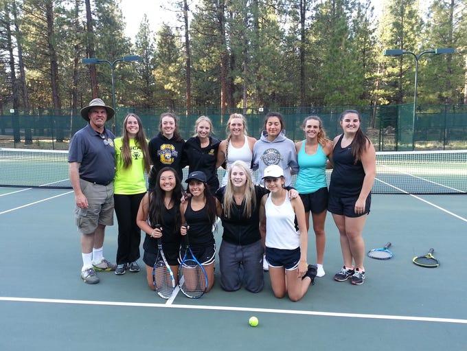 Cascade's 2018 varsity girls tennis team.