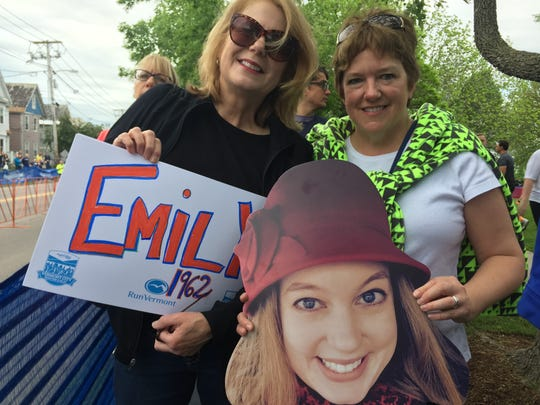 Laurie Bullis, left, of Colchester and Melissa Taddeo,