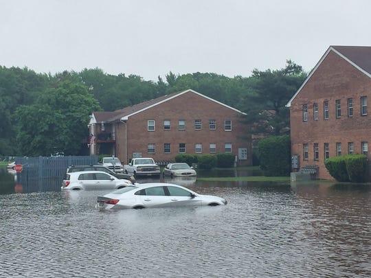 Flooding near the Farmingdale-Howell border.