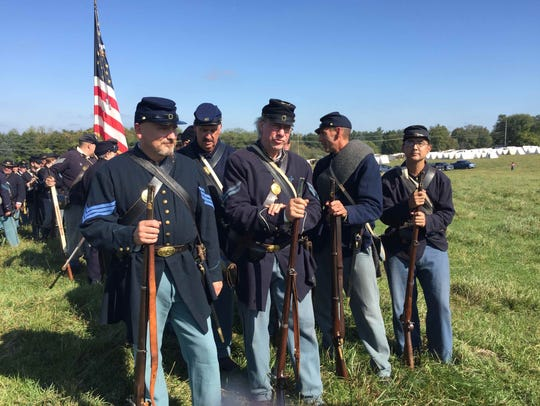 A Civil War encampment will be part of the opening