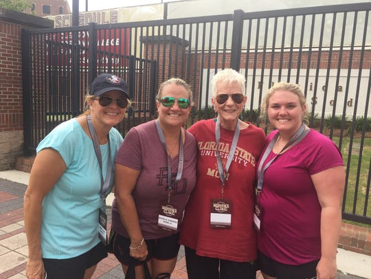 Wendy Clark, left, Michelle Sherwood, June Duda and