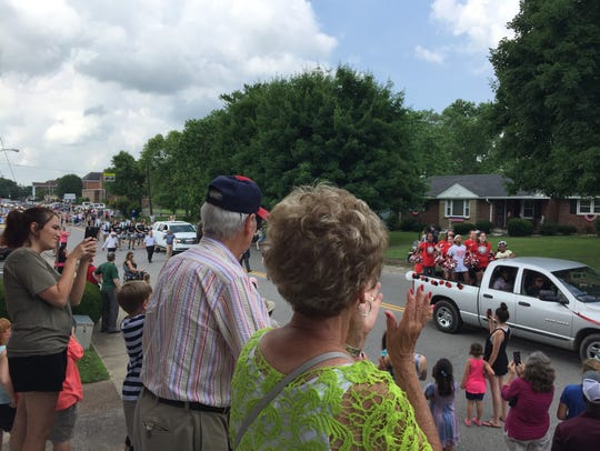 Present and past Old Hickory residents at a parade