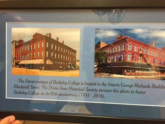 Photographs as Berkeley College in Dover show its historic
