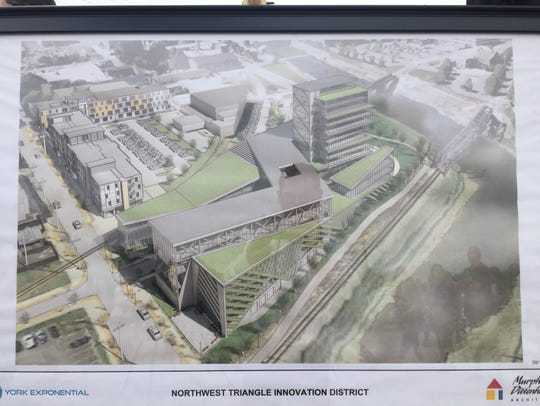 A rendering of what the completed project at the Northwest
