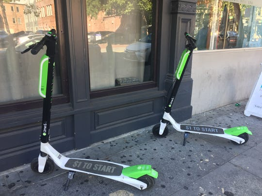 Lime scooters, pictured here, are leaving Memphis starting next week.