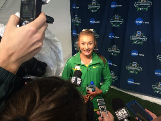 Oregon's Jessica Hull won the national title in the