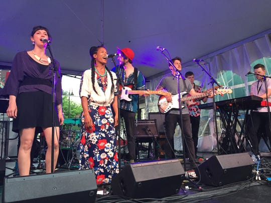 Smalltalker kicked off the Burlington Discover Jazz Festival with a set on the Church Street Marketplace on June 1, 2018.