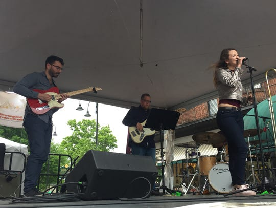 Natalie Cressman and her band play a set on the Church