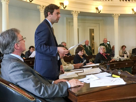 Senate President Pro Tempore Tim Ashe, D/P-Chittenden, speaks as the Senate prepares to vote June 7 on a budget and tax bill that would avoid a state government shutdown.