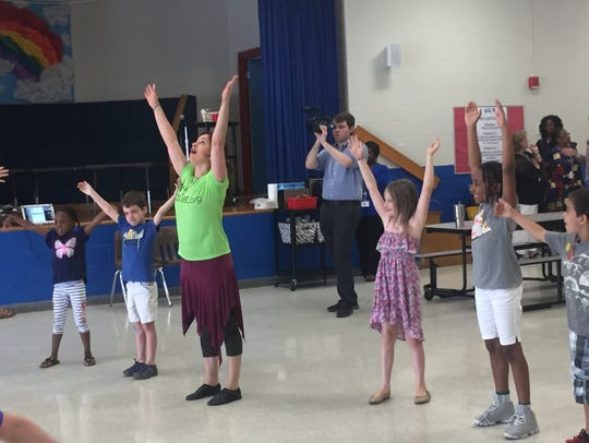 Students practiced flamenco dancing at Bartlett Elementary as part of their summer program.