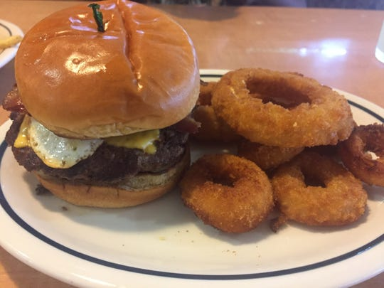 IHOb's Big Brunch burger. The burger is one of seven