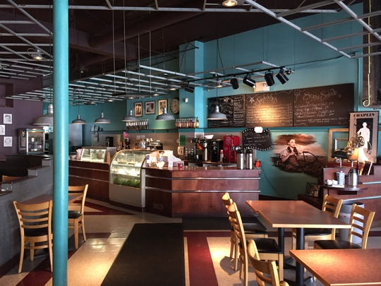 Inside MJ's Coffeehouse, which will soon become The Backstage Cafe once Ed and Sue Felty take the reins at the Allen Theatre.