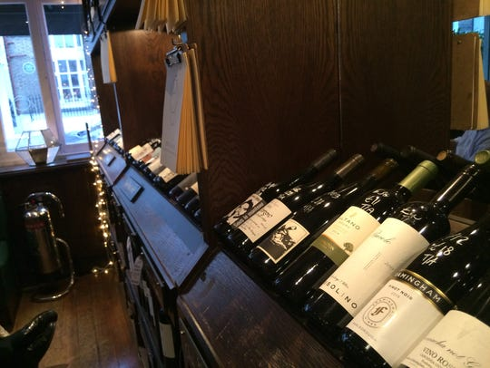 Bottles of wine on display at the Kensington Wine Rooms