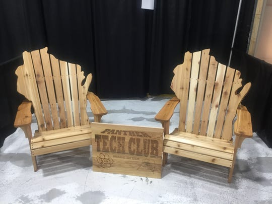 These chairs created by Plymouth High School students