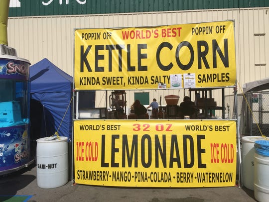 Kettle corn and lemonade keep company at the Reno Rodeo