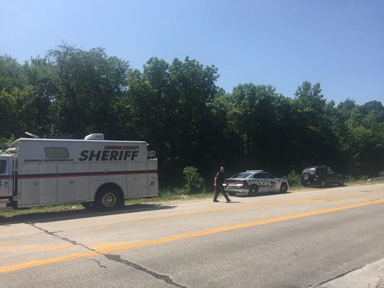 Greene Country deputies investigating a scene near