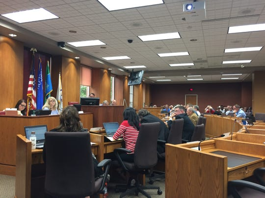 The Green Bay City Council on June 19, 2018.