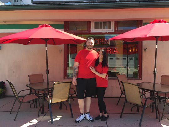 Joseph and Katherine Argento, owners of Argento's Pizza