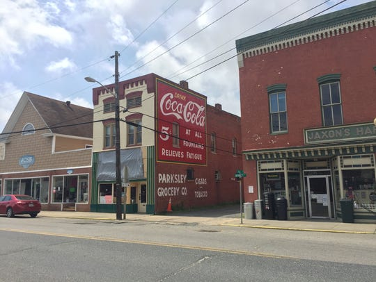 Downtown Parksley, Virginia on Wednesday, June 20,